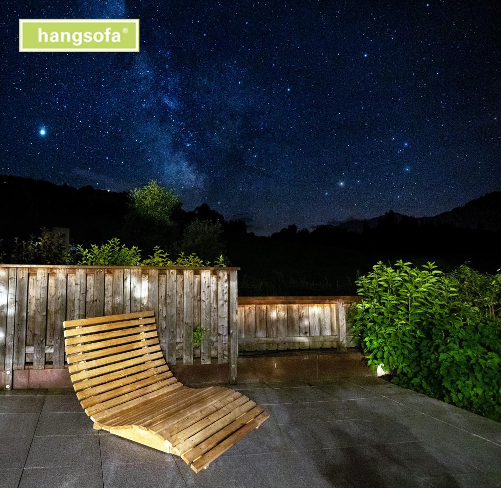 Sternenliege oder Relaxliege auf der Terrasse